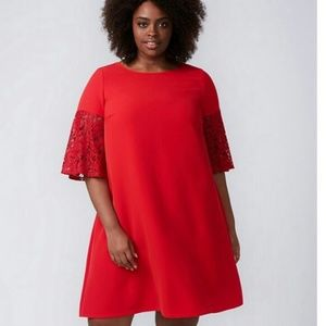 NWT LANE BRYANT Infinite Stretch Lace Sleeve Dress